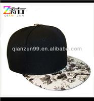 2014 Flower black sanpback cap tie dyed trucker cap
