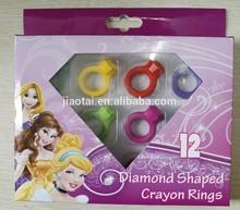 Diamond Ring Shaped wax crayon 12Colors