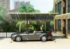2015 popular single slope alumium carport