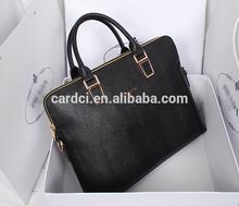Elegance men's handbag famous branded briefcase computer bag for ipad