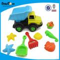 رمال شاطئ اللعب وشاحنة الشاطئ بأسمائها لعبة للاطفال
