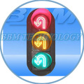 iluminado volta led sinal de trânsito