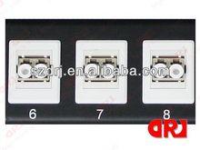 1U 19 inch SC/FC/LC/ST 16 ports FTTH corning fiber optic patch panel