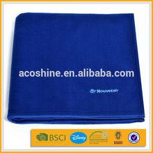 100%polyester super soft colorful plain airline polar fleece blanket