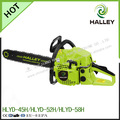Ferramenta de jardim professional fabricante fornecer 2500/3800/4500/5200/5800 movido a gasolina motosserra