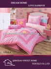 new design embroidery Butterfly kids carton bedding set