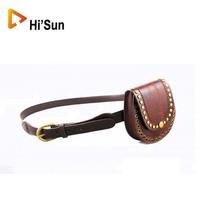 Metal belt with rivet/universal waist belt with bag