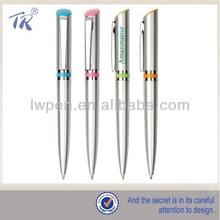 Hot Selling Elegant Plastic Silver Ball Pens