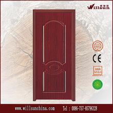 Barato interior pvc puerta simple dormitorio de la puerta