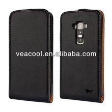 Black Flip Real Leather Case for LG G Flex F340 D958 Case