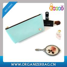 Encai New Design Simple PU Cosmetic Pouch/Cute Makeup Zipper Bag/Bag In Bag Organizer Inserts