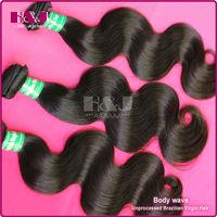 2014 high quaity no split ends unprocessed body wave virgin brazilian hair