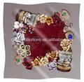 foulard de soie design de bijoux originaux machine ourlé foulard de soie