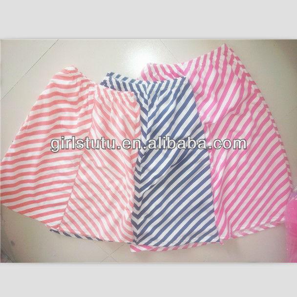 Wholesale factory direct sale children chevron maxi skirt multi-colors puffy zig zag skirt for k ...