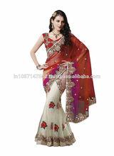 Indian Pakistani Designer Stylish Bollwood Lahenga Sari Saree Ethnic Bridal Embroidery 2520