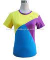 女性のシームレス良い- 探していたナイロンスパンデックスt- シャツ、 シームレスt- シャツ