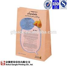 Environmental friendly food paper bag kraft paper bag