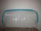 Clear pvc portable zipper travel packaging pvc beach bag