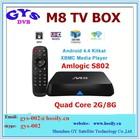 2014 best android quad core tv box Amlogic quad core M8 iptv box with android 4.2 system M8 android set top box