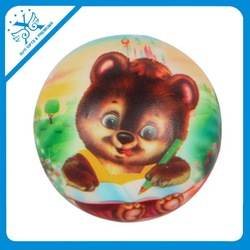 Suction cup balls cartoon raw material infant toy ball cartoon sponge ball customized logo promotional gift