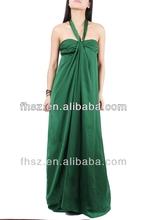 2014 new fashion ladies green maxi dress new model girl dress