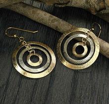 Silver 925 Sterling 14K Gold Filled Women Jewelry Dangle Hoop Earrings X726