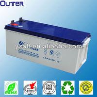 Used in pv power,ups 12v200ah ce,tlc certificate solar pv power battery