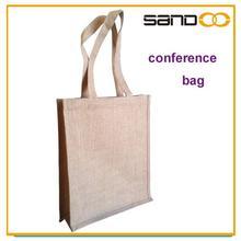 Eco friendly reusable bag, tote jute confer bag, jute conference bag