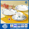 20pcs ceramic round dishes serving trays with simple design factory outlet wholesale