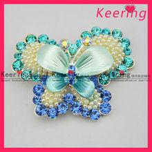 New arrival fashion design crystal brooch butterfly models design WBR-1172