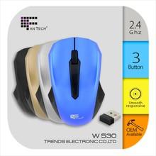 Novelty Wireless Mouse W530 Cheap Slim Wireless Mouse