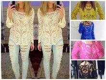 summer fashion 2014 for Brazil lace shirt