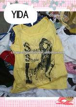used clothing,fashion ladies t-shirt/second hand clothing /shinning lady t-shirt