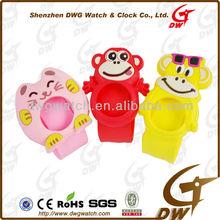 Animal shape cartoon kids silicone slap watch