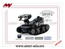rc carro alarme remote robot 4ch tanque wifi com câmera tanque do rc do rc do brinquedo do carro