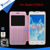 Fancy flip case for alcatel one touch 6012