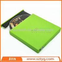ECD002-DW Hot Sale Product 12.7mm Slim Portable USB 2.0 Laptop Tray-load External DVD ROM CD-RW Burner Drive/external dvd writer