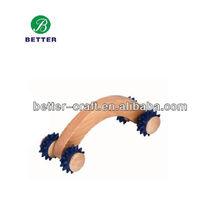 four wheels wooden driver massager