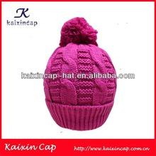 wholesale 100% cotton pink plain kufi crochet beanie skull cap knit hat knit beanie children cap