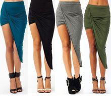 latest new design asymmetric drape skirt