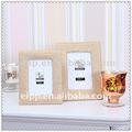 Tecido photo frame( dourado)
