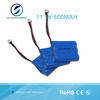 Li-ion Battery Pack 11.1V 800mAh Cylindrical Li ion 14500 3S Battery Pack For Wireless Alarm System