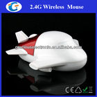2.4GHz wireless airplane shaped mouse