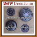 17mm pirinç/metal fashional bahar metal snap düğmeler, çıtçıt düğme metal