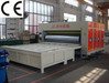 Four color carton box printing slotting die cutting making machine