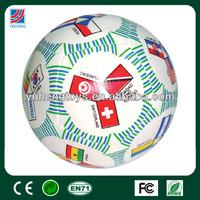 national flag printed pu balls-soft ball