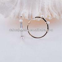 mother of pearl 18K gold plating big hoop earrings