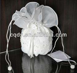 2014 best looking with best price!!!Ellie's Bridal embroidered pearl flower girl bag/bridal bag