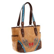 Western lady handbags Winged tote bag ladies handbag Peace Heart Small Tote Factory bags woman