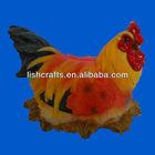 Resin chicken sculpture, polyresin hen garden decor